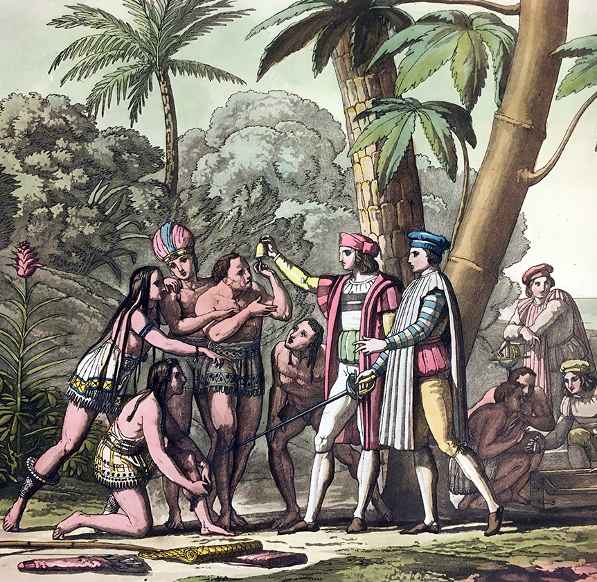 The first Indians who appeared before Columbus, D.K. Bonatti, 1820